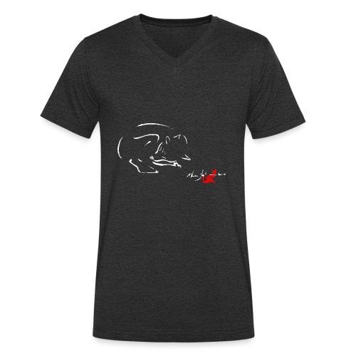 VOLPE - T-shirt ecologica da uomo con scollo a V di Stanley & Stella