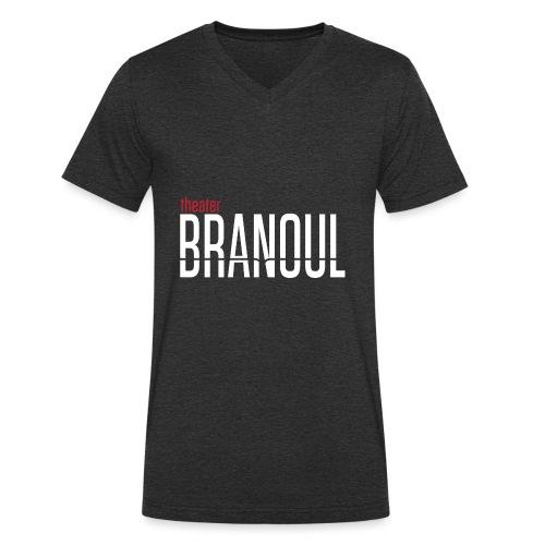 Branoul Logo rood wit - Mannen bio T-shirt met V-hals van Stanley & Stella