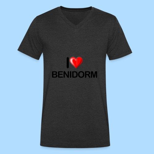 I love benidorm - Men's Organic V-Neck T-Shirt by Stanley & Stella