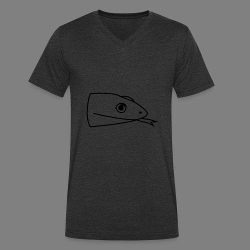 Snake logo black - Mannen bio T-shirt met V-hals van Stanley & Stella