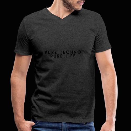 Pure Techno Pure Life Black - Männer Bio-T-Shirt mit V-Ausschnitt von Stanley & Stella