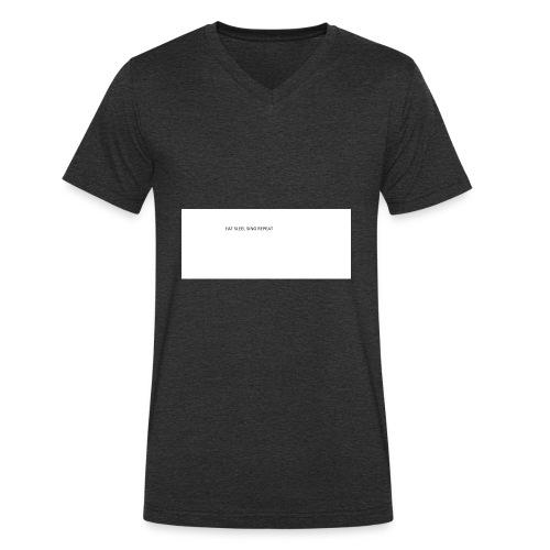eat sleep sing - Men's Organic V-Neck T-Shirt by Stanley & Stella