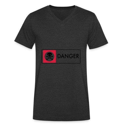 Danger - Men's Organic V-Neck T-Shirt by Stanley & Stella