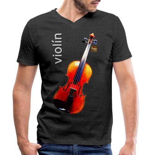 Violín - Camiseta ecológica hombre con cuello de pico de Stanley & Stella