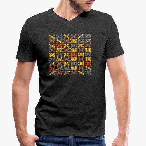 Autobahnkreuze Mesh - Männer Bio-T-Shirt mit V-Ausschnitt von Stanley & Stella