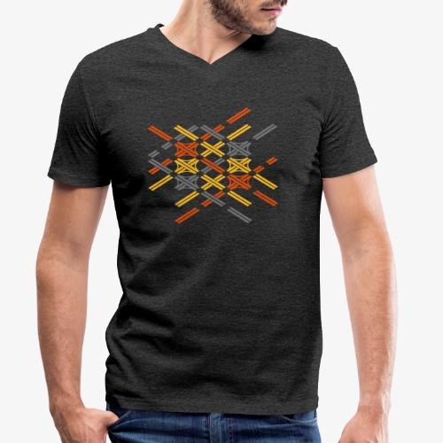 Autobahnkreuze Fragment bunt - Männer Bio-T-Shirt mit V-Ausschnitt von Stanley & Stella
