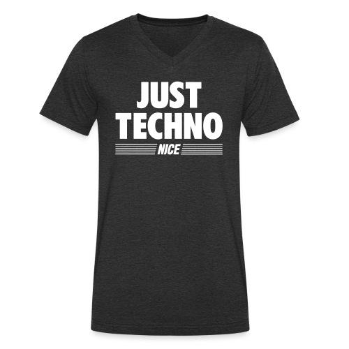 Just techno - Men's Organic V-Neck T-Shirt by Stanley & Stella