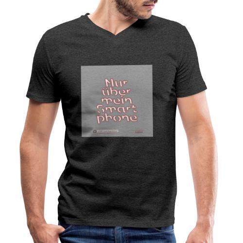 Design Nur ueber mein Smartphone 4x4 - Männer Bio-T-Shirt mit V-Ausschnitt von Stanley & Stella