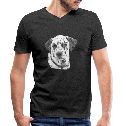 dalmatian - Økologisk Stanley & Stella T-shirt med V-udskæring til herrer
