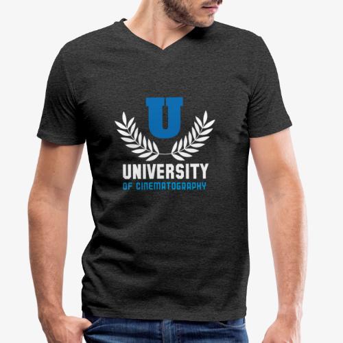 University 5 - Camiseta ecológica hombre con cuello de pico de Stanley & Stella