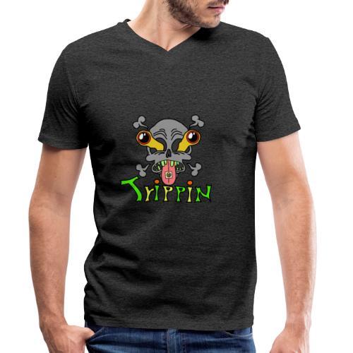 Totenkopf Trippin Design - Männer Bio-T-Shirt mit V-Ausschnitt von Stanley & Stella