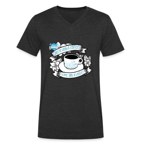 I Like You To Latte White - Mannen bio T-shirt met V-hals van Stanley & Stella