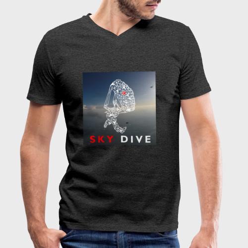 Fallschirm-Triangle - Männer Bio-T-Shirt mit V-Ausschnitt von Stanley & Stella