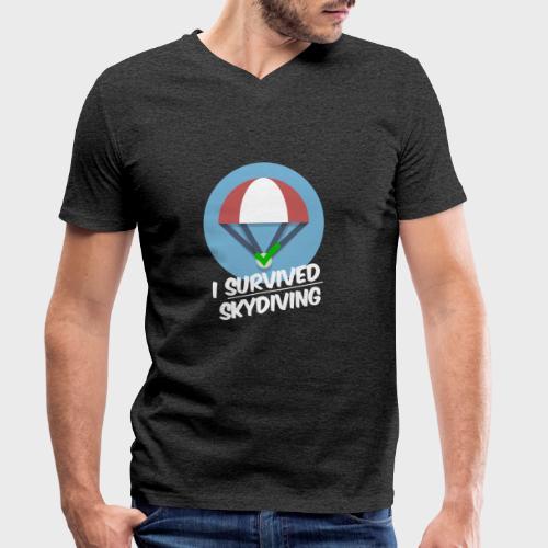 I survived Skydiving - Männer Bio-T-Shirt mit V-Ausschnitt von Stanley & Stella