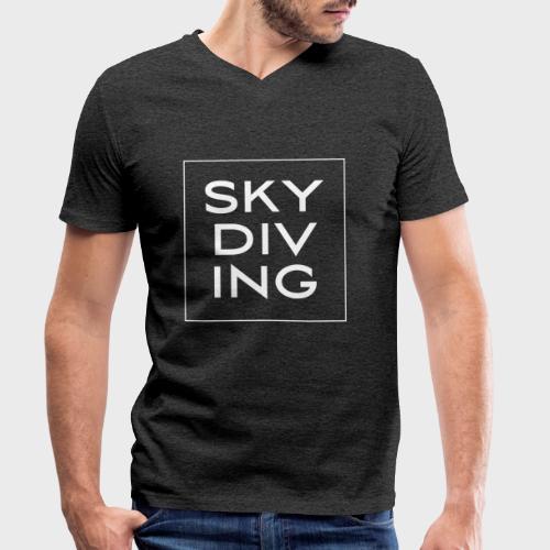 SKY DIV ING White - Männer Bio-T-Shirt mit V-Ausschnitt von Stanley & Stella