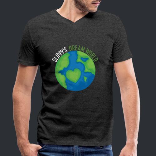 Slippy's Dream World - Men's Organic V-Neck T-Shirt by Stanley & Stella