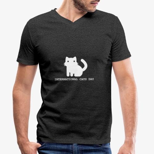 International Cats Day - Men's Organic V-Neck T-Shirt by Stanley & Stella