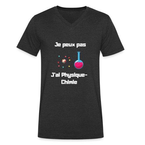 Je peux pas, j'ai physique chimie - T-shirt bio col V Stanley & Stella Homme