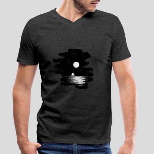 Mond Nacht - Männer Bio-T-Shirt mit V-Ausschnitt von Stanley & Stella