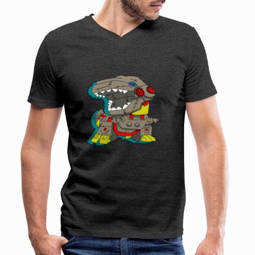 The Plushasaurus - Men's Organic V-Neck T-Shirt by Stanley & Stella