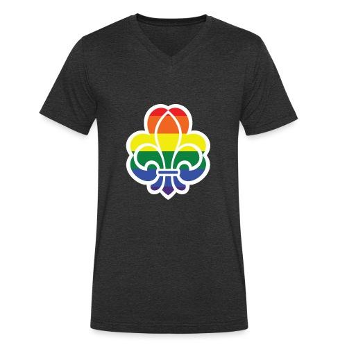 Regnbuespejder jakker og t-shirts mv - Økologisk Stanley & Stella T-shirt med V-udskæring til herrer