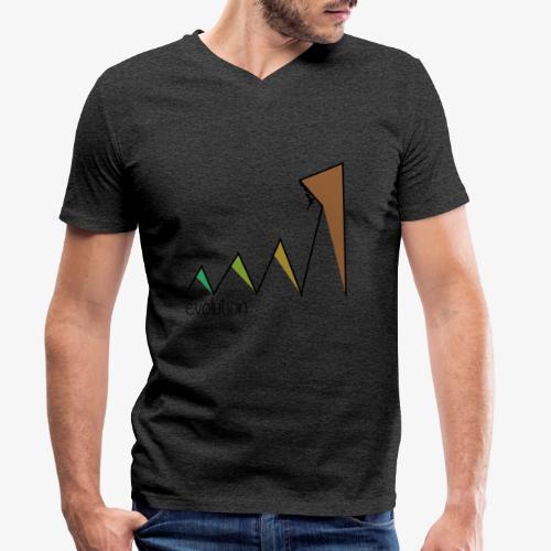 evolution - Men's Organic V-Neck T-Shirt by Stanley & Stella