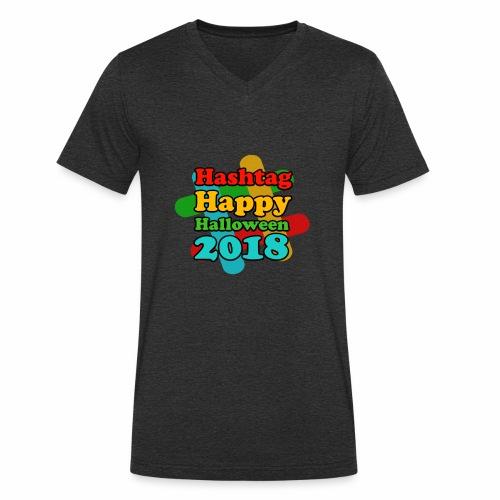 hashtag happy halloween 2018 - T-shirt bio col V Stanley & Stella Homme