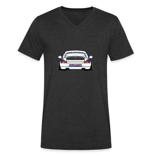 White Sports Car Maritini Livery - Men's Organic V-Neck T-Shirt by Stanley & Stella