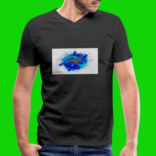 SPLAT - Men's Organic V-Neck T-Shirt by Stanley & Stella