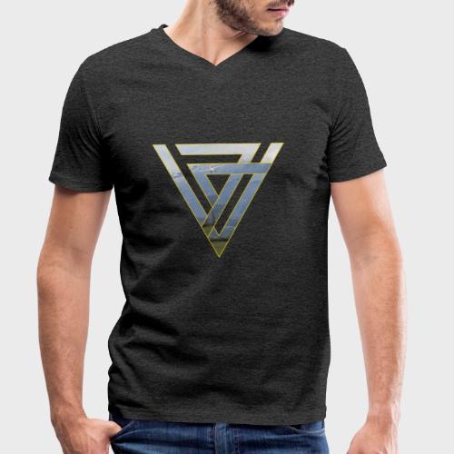 Triangle Plane - Männer Bio-T-Shirt mit V-Ausschnitt von Stanley & Stella