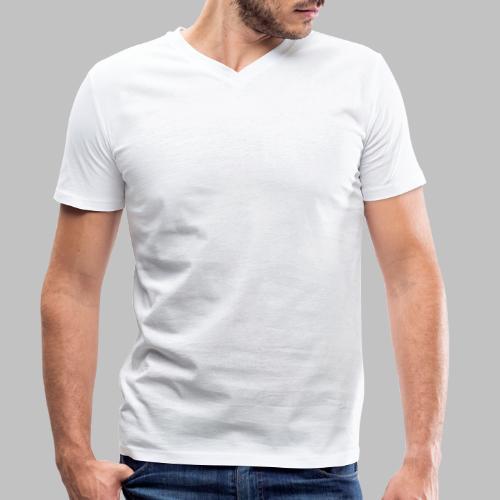 Der mit dem Schäferhund geht - White Edition - Männer Bio-T-Shirt mit V-Ausschnitt von Stanley & Stella