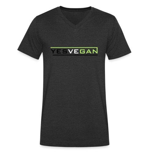 YESVEGAN - Männer Bio-T-Shirt mit V-Ausschnitt von Stanley & Stella