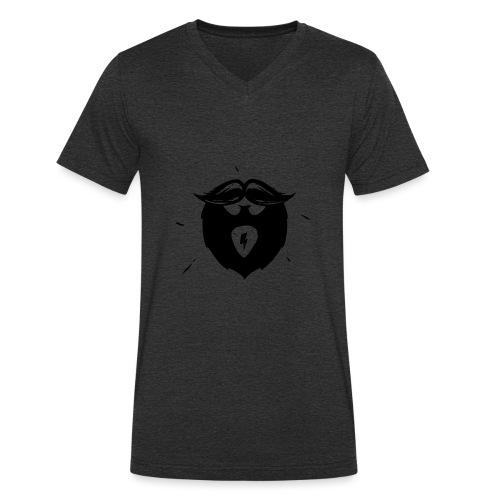 Studio Brewdio Logo Black Just Beard - Men's Organic V-Neck T-Shirt by Stanley & Stella