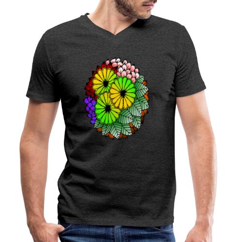 Mandala Blumen Design - Männer Bio-T-Shirt mit V-Ausschnitt von Stanley & Stella