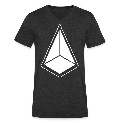 Pyramid 2 einfarbig - Männer Bio-T-Shirt mit V-Ausschnitt von Stanley & Stella