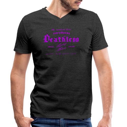 deathless living team violet - Männer Bio-T-Shirt mit V-Ausschnitt von Stanley & Stella