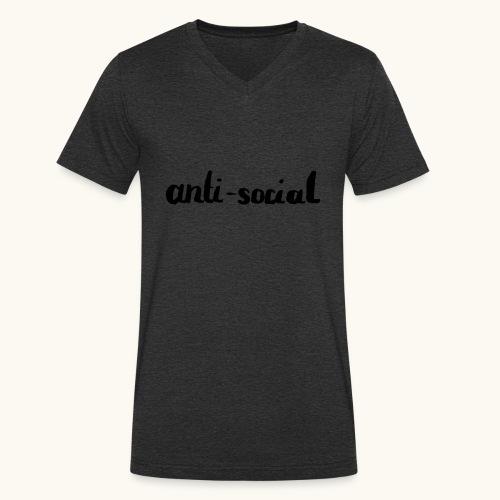 anti-social asocial énonciation drôle comme un cadeau - T-shirt bio col V Stanley & Stella Homme