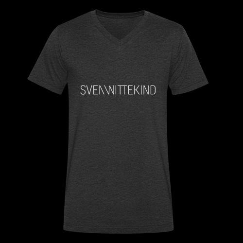SVEN WITTEKIND SCHRIFTZUG - Männer Bio-T-Shirt mit V-Ausschnitt von Stanley & Stella