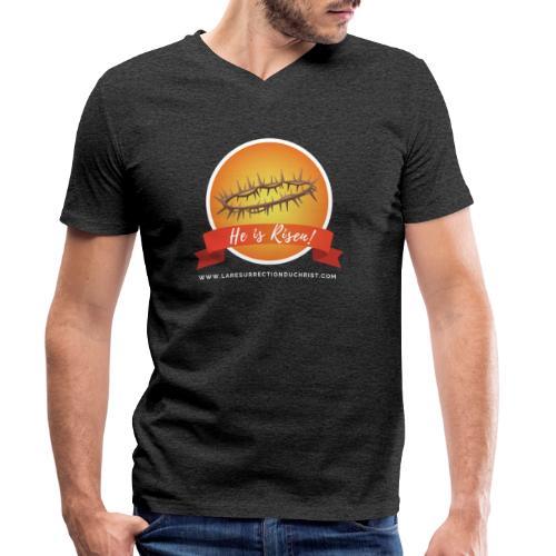 He is Risen ! (Il est ressuscité) - T-shirt bio col V Stanley & Stella Homme