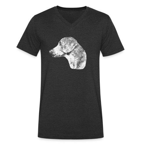 Langhaar Weimaraner - Männer Bio-T-Shirt mit V-Ausschnitt von Stanley & Stella