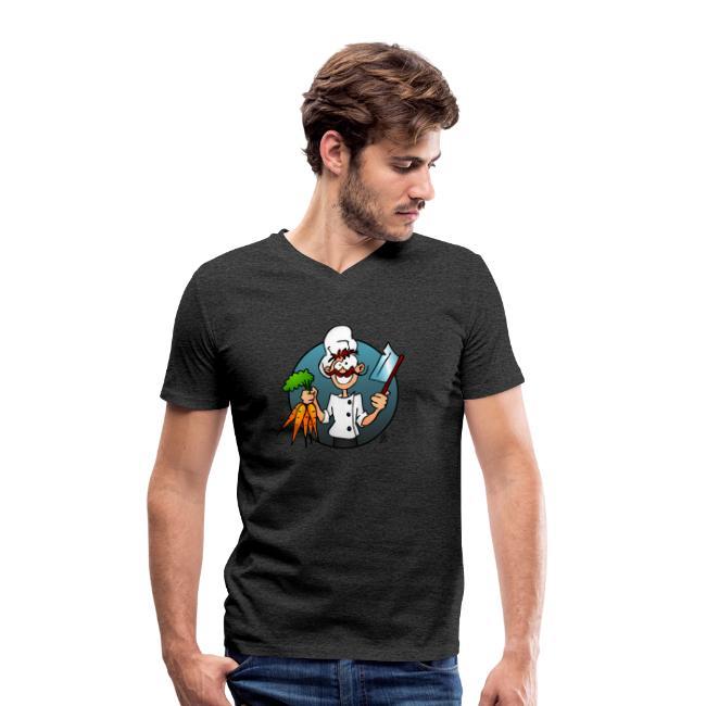 De vegetarische chef - Mannen bio T-shirt met V-hals van Stanley & Stella