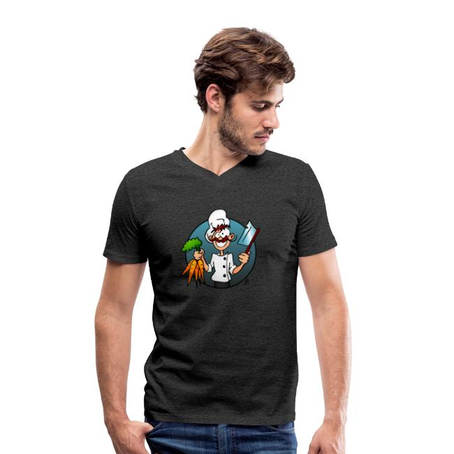 Le chef végétarien - T-shirt bio col V Stanley & Stella Homme