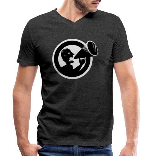 Der Schrei - Männer Bio-T-Shirt mit V-Ausschnitt von Stanley & Stella