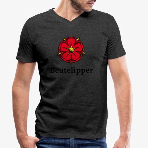 Beutelipper - Lippische Rose - Männer Bio-T-Shirt mit V-Ausschnitt von Stanley & Stella