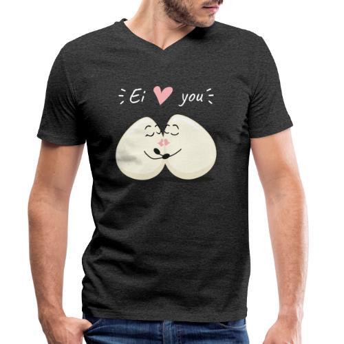 Ei LOVE You - Männer Bio-T-Shirt mit V-Ausschnitt von Stanley & Stella