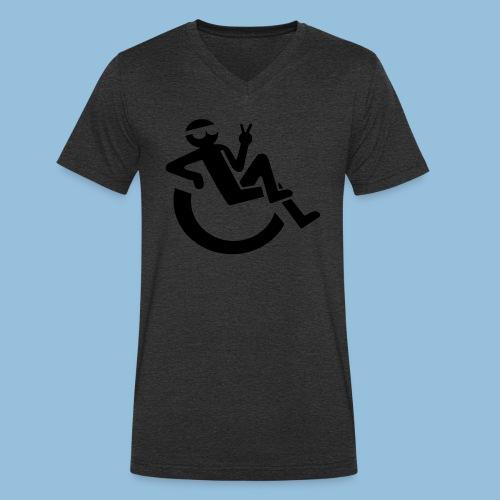 Happyweelchair1 - Mannen bio T-shirt met V-hals van Stanley & Stella
