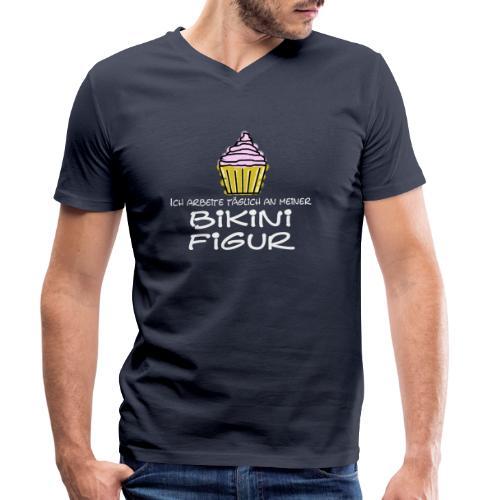Bikinifigur - Männer Bio-T-Shirt mit V-Ausschnitt von Stanley & Stella