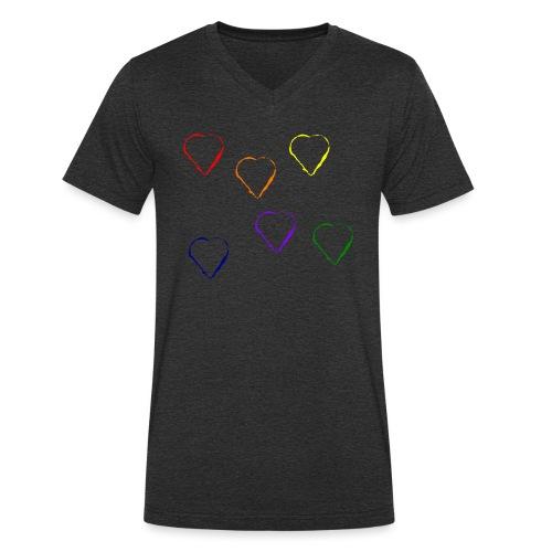 Tanzende Herzen 20.1 - Männer Bio-T-Shirt mit V-Ausschnitt von Stanley & Stella