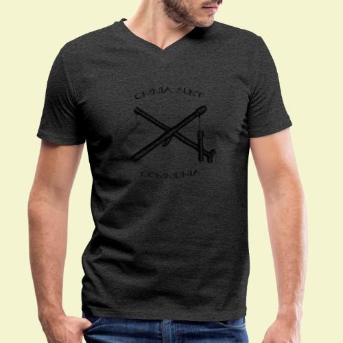 Omnia Sunt Communia - Black - T-shirt ecologica da uomo con scollo a V di Stanley & Stella