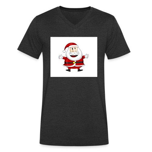 Happy-Santa-1--jpg - Mannen bio T-shirt met V-hals van Stanley & Stella